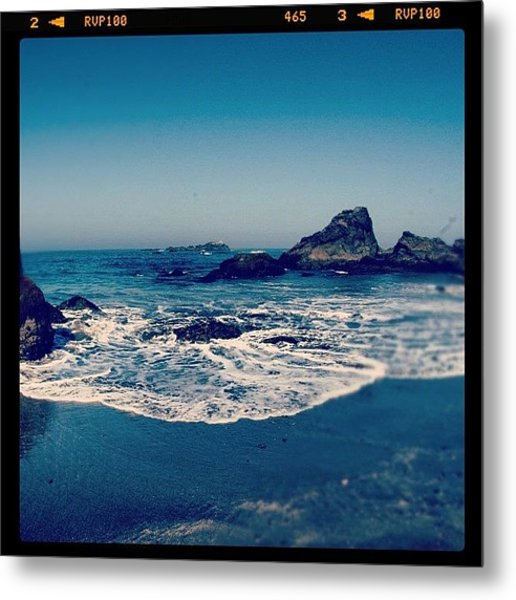 #beach #beautiful #water #waves #nature Metal Print