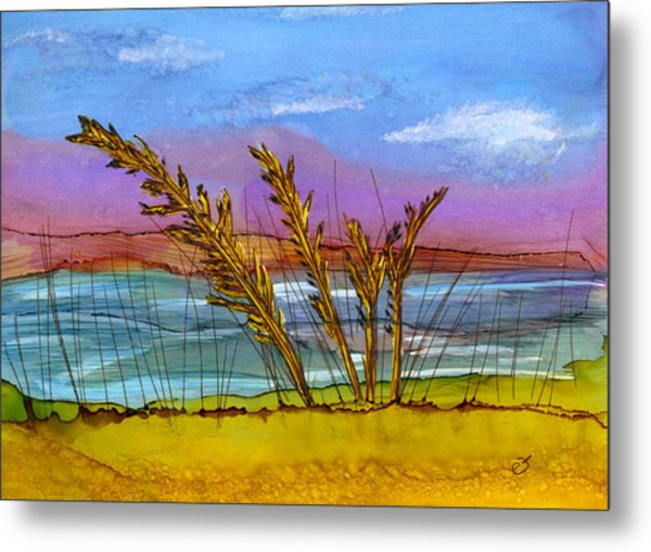 Beach Berm Metal Print