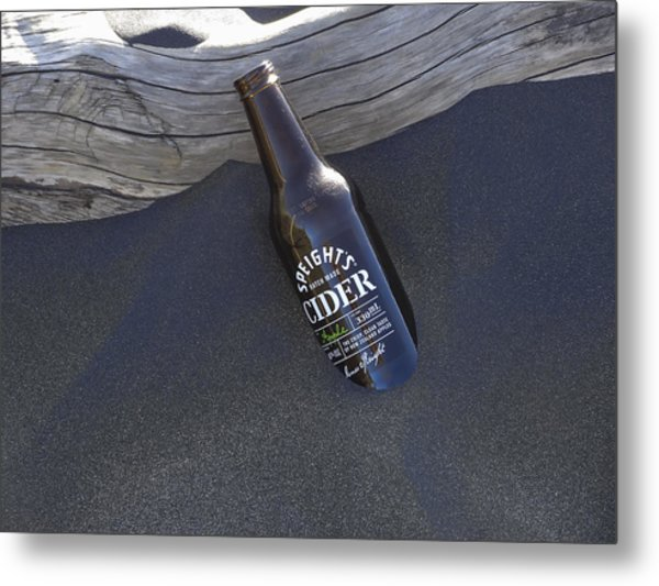 Beach Cider Metal Print by David Yack