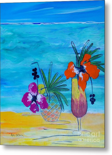 Beach Cocktails Metal Print
