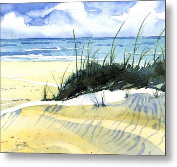 Beach Dunes Metal Print
