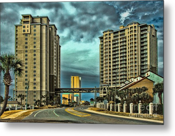 Panama City Beach Front Rd Metal Print