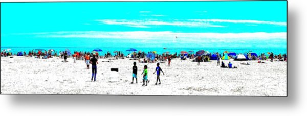 Beach Fun 3 Metal Print