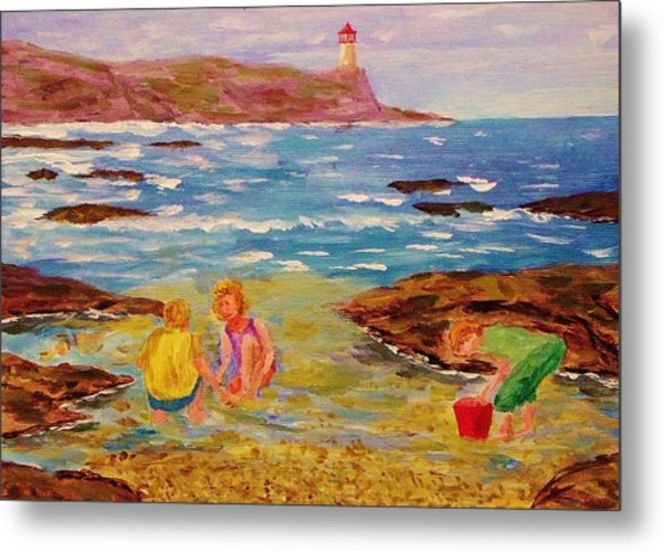 Beach Fun Metal Print