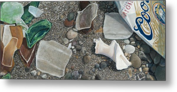 Beach Glass Metal Print