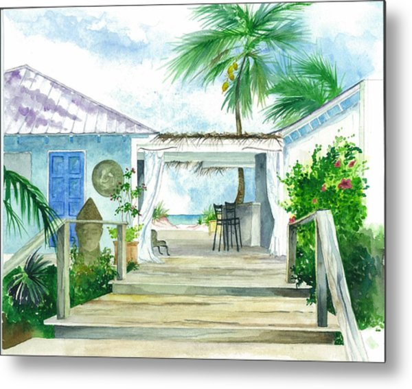 Beach House Tapas Bar Eleuthera Bahamas Metal Print