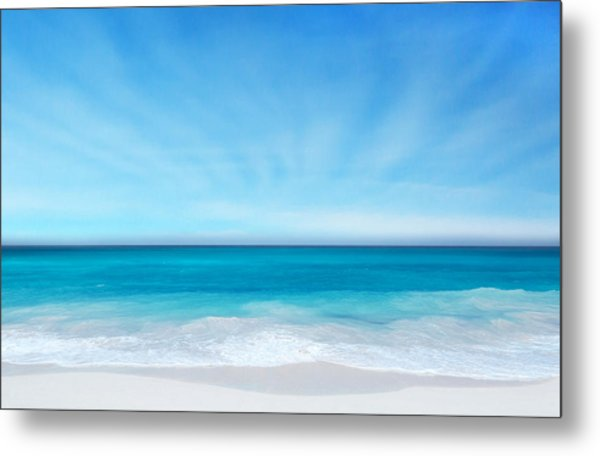 Beach In The Morning Metal Print