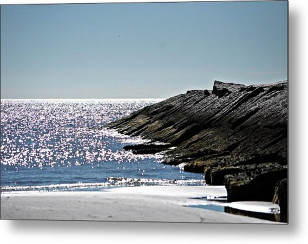 Beach Jetty Metal Print