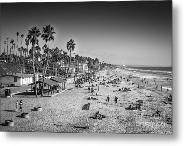 Beach Life From Yesteryear Metal Print