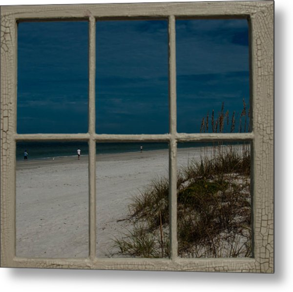 Beach Lookout Metal Print