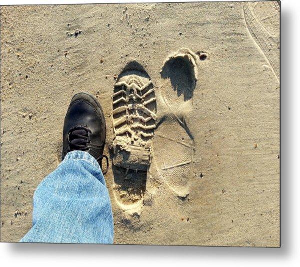 Beach Of Big Feet Metal Print