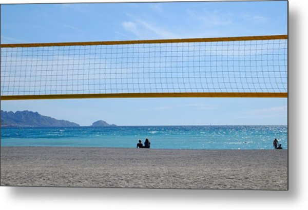 Beach Of Marseille Metal Print