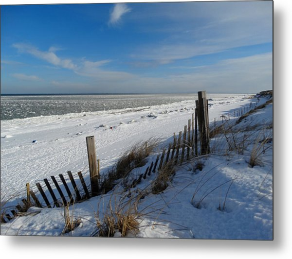 Beach On A Winter Morning Metal Print