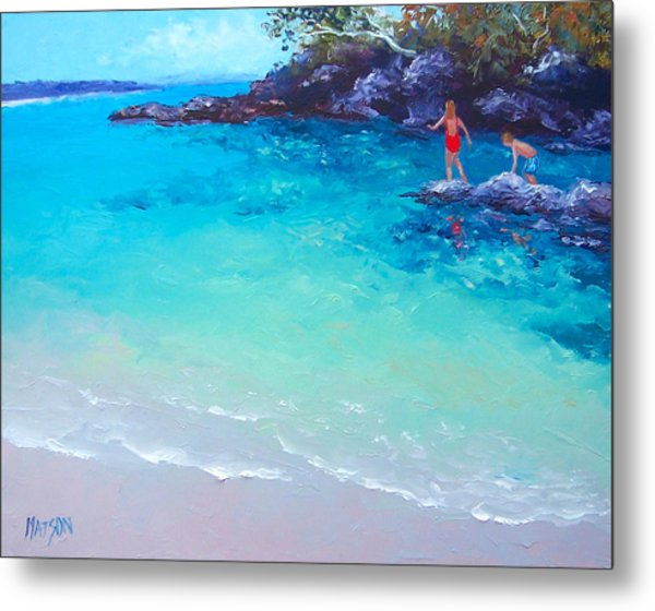 Beach Painting - A Day To Remember Metal Print