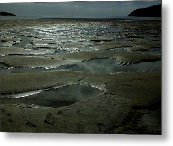 Beach Pools Metal Print