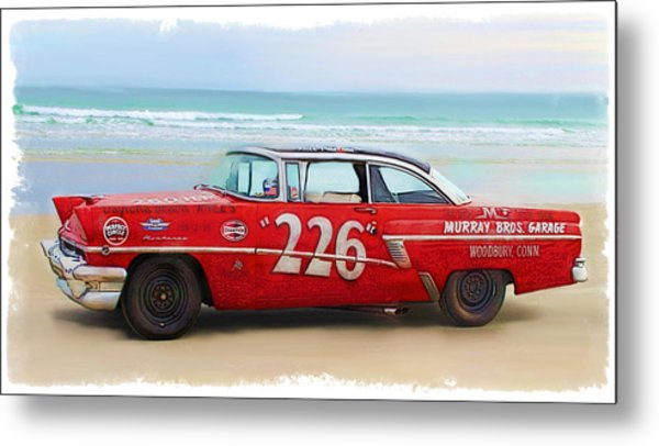 Beach Race Car 226 Metal Print