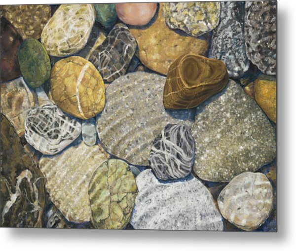 Beach Rocks 3 Metal Print