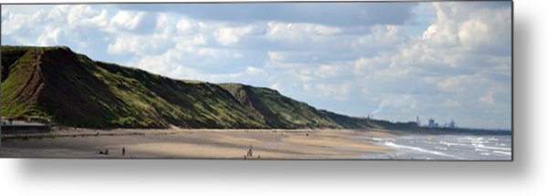 Beach - Saltburn Hills - Uk Metal Print