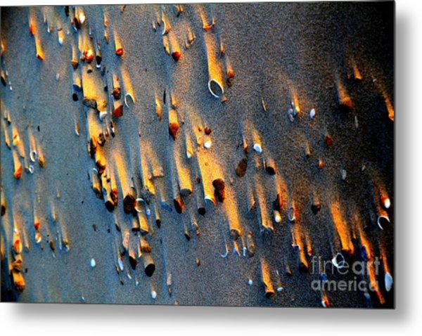 Beach Sand On Sunset Metal Print by Arie Arik Chen