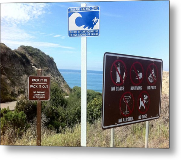 Beach Signs San Clemente Metal Print