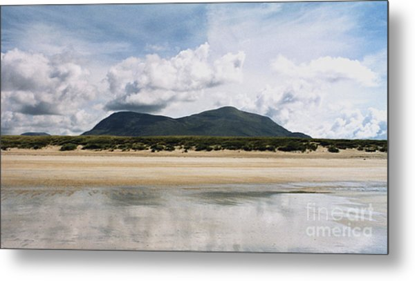 Beach Sky And Mountains Metal Print