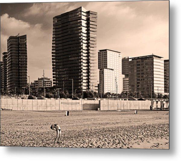 beach, Barcelona Metal Print