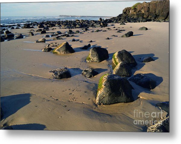 Beach Stones I Metal Print