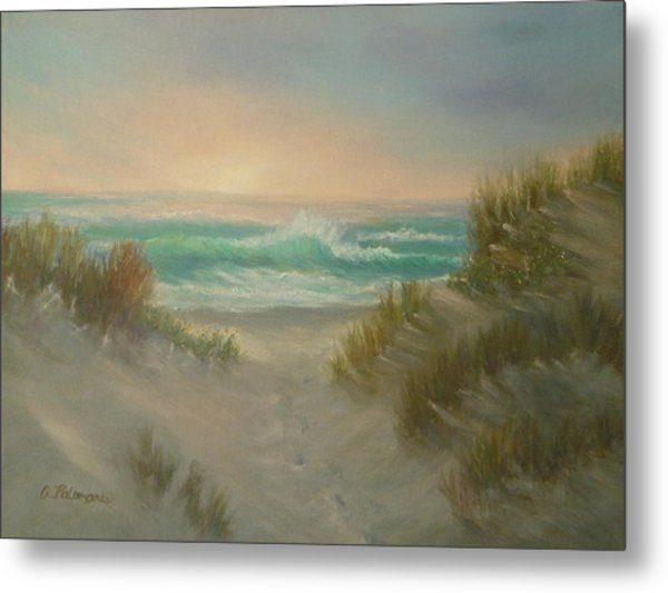 Cape Cod Beach Sunset Dunes Print  Metal Print
