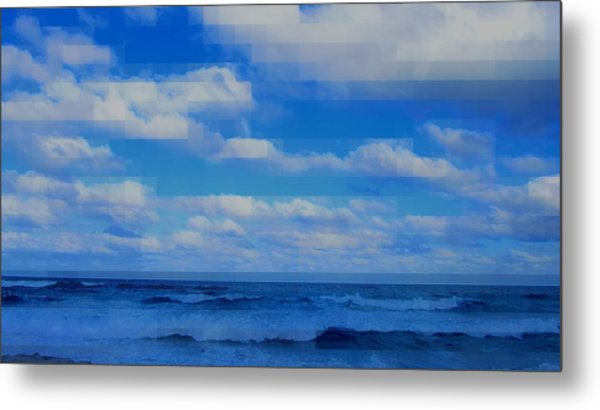 Beach Through Artificial Eyes Metal Print