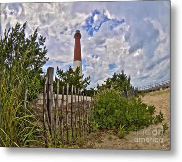 Beach View Of Barney Metal Print