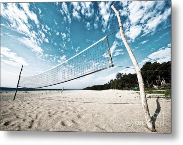 Beach Volleyball Net Metal Print