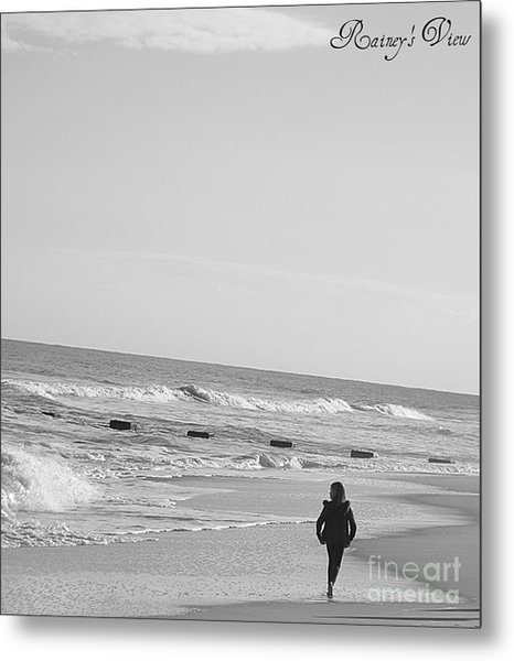 Beach Walk Metal Print by Lorraine Heath