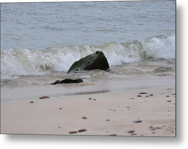 Beach Wave Metal Print by Rebecca Jayne