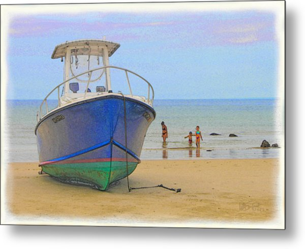 Beached Metal Print