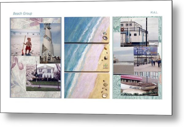 Beaches Group Metal Print