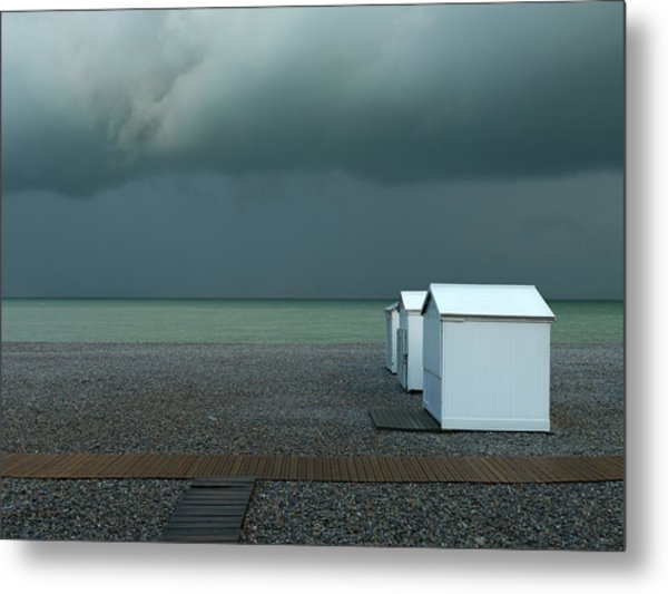 Beachhouses Metal Print by Elisabeth Wehrmann