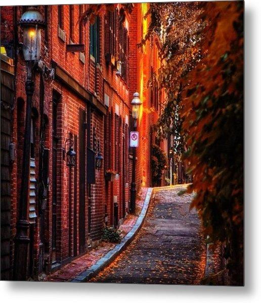 Beacon Hill Sidewalk, Boaton Metal Print