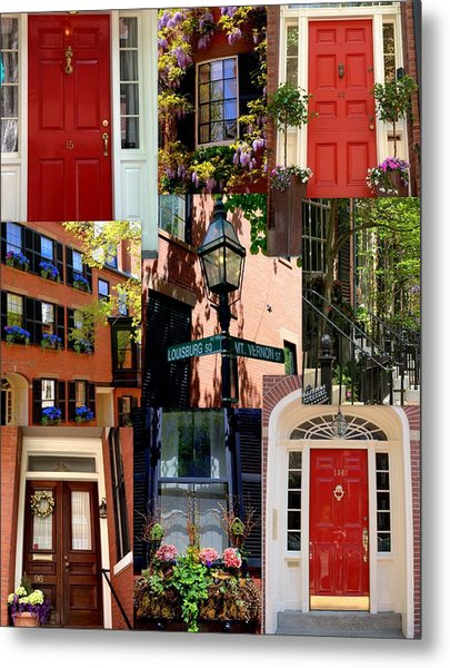 Beacon Hill  Windows Doors And More Metal Print