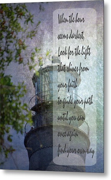 Beacon Of Hope Inspiration Metal Print