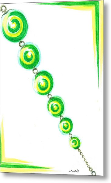 Beaded Chain Metal Print