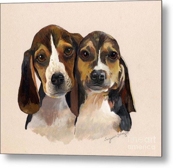 Beagle Babies Metal Print