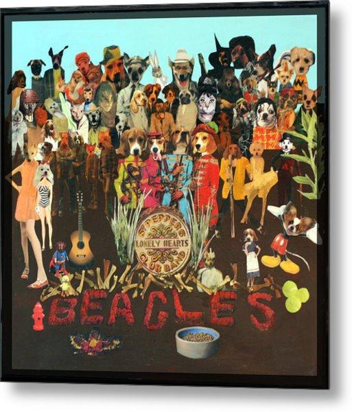 Beagles Metal Print by Susie DeZarn