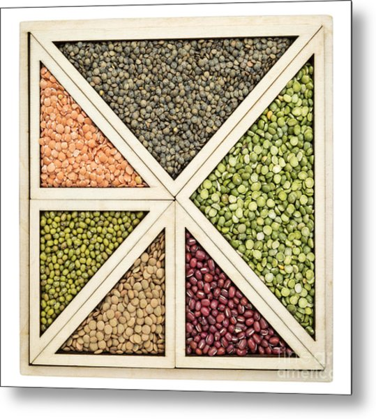 Beans And Lentils Abstract Metal Print
