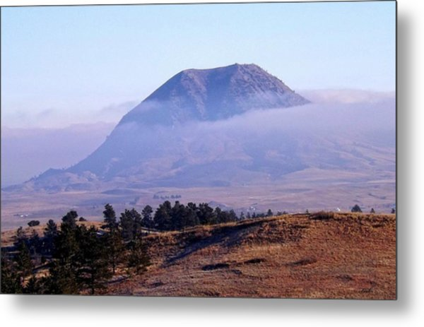 Bear Butte Fog Metal Print