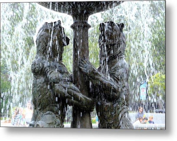 Bear Fountain Metal Print