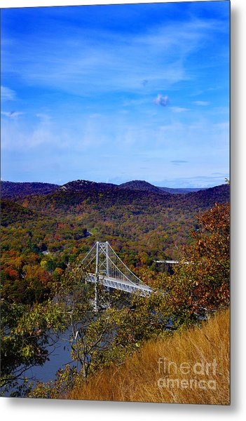 Bear Mountain Bridge From Camp Smith Trail Metal Print