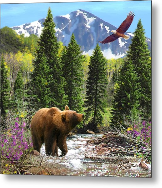 Bear Necessities Ill Metal Print