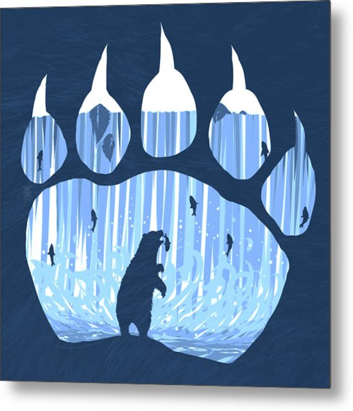 Bear Paw Metal Print