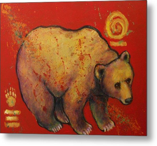 Bear Paw Grizzly Bear Metal Print