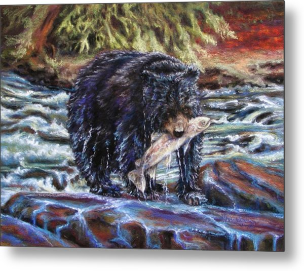 Bears' Catch Of The Day Metal Print